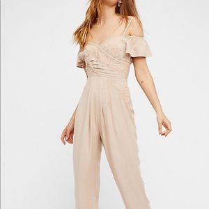 Free People Tan In The Moment Jumpsuit pants
